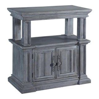 Nightstand Cathedral Weathered Gray Wood For Sale