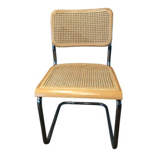 Mid Century Metal Caned Chair For Sale