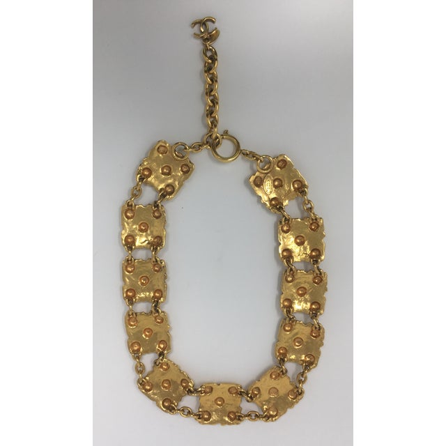 2003 Chanel Gold-Tone Medallion Necklace For Sale In Greensboro - Image 6 of 7