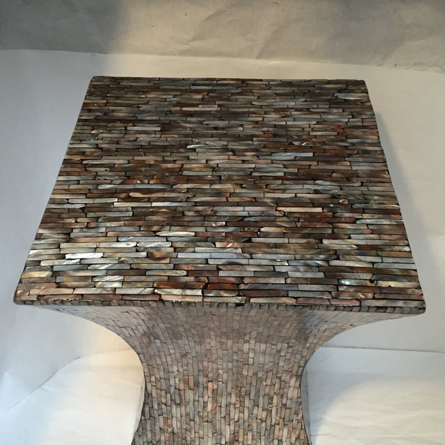 Abalone Shell Mosaic Table - Image 5 of 8