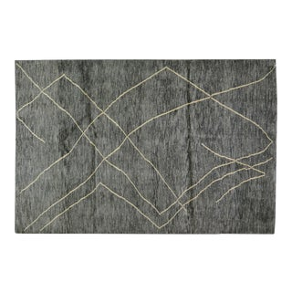"""Moroccan Hand Knotted Beni Ourain Rug With Soft Texture and Natural Colors,6'6""""x9'8"""" For Sale"""
