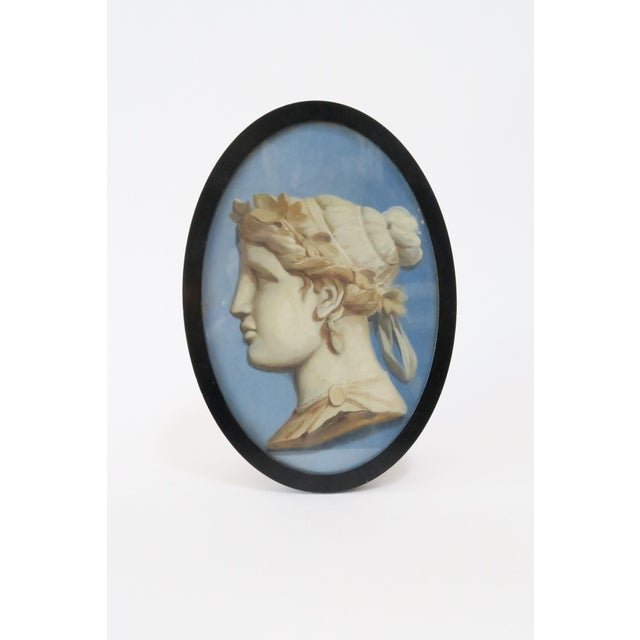 Framed Vintage Cameo Painting - Image 2 of 5