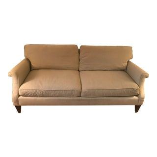 Beige Ticking Stripe Cotton Baker Furniture Sofa