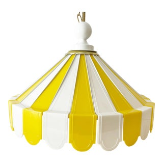 1970s Tented Pendant Chandelier For Sale