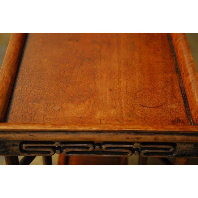 Brown Chinese Qing Rosewood Folding Tray Table For Sale - Image 8 of 10