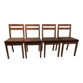 De La Espada Walnut Dining Chairs - Set of 4