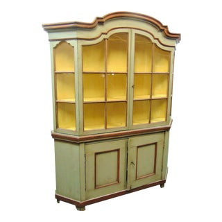 19th C Italian Painted China Cabinet For Sale