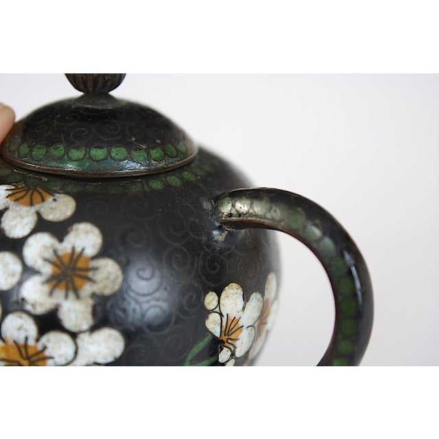 Antique Miniature Japanese Cloisonne Teapot For Sale In New York - Image 6 of 13