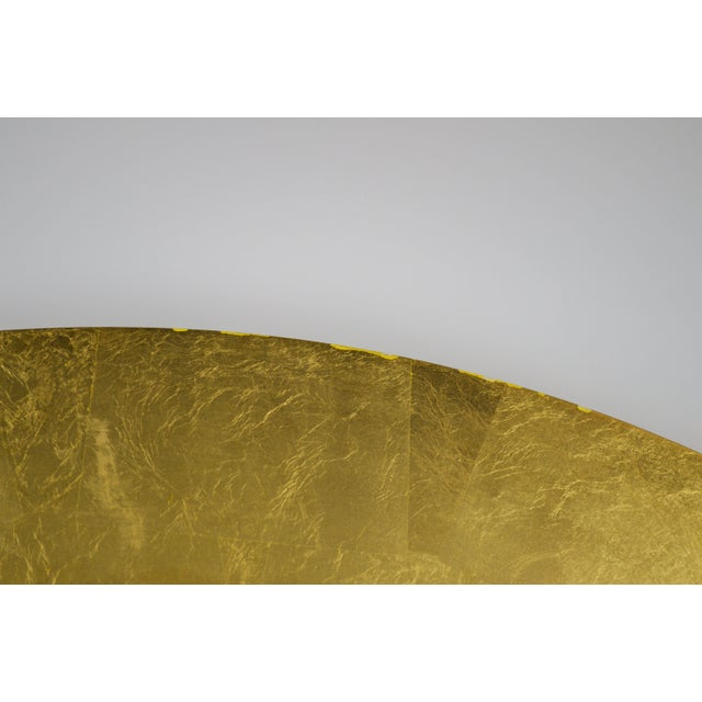 Contemporary Modern Gold Circular Mirror For Sale - Image 3 of 5