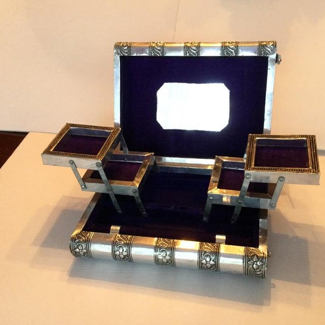 Silver Metal Jewelry Box - Image 7 of 11