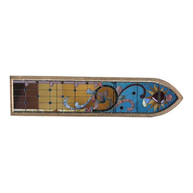 Antique Stained Glass Window, Circa 1900s For Sale - Image 11 of 12