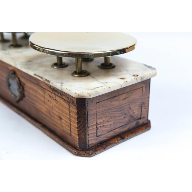 Marble Top Bakery Scale, France, Late 19th Century For Sale - Image 9 of 11