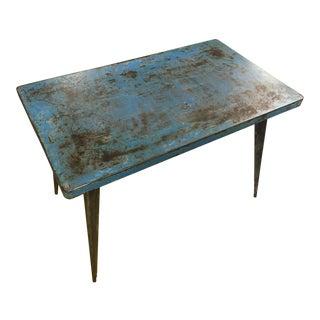 """Antique 1950s Original Jean Pauchard """"Tolix 55"""" Steel Table For Sale"""