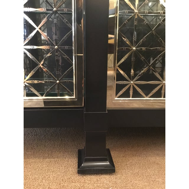 Caracole Caracole Modern Black and Gold Display Cabinet For Sale - Image 4 of 10
