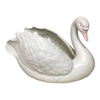 Fitz & Floyd XL Swan Centerpiece For Sale