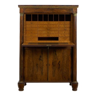 William IV Antique Rosewood Writing Desk Secrétaire á Abattant, English Circa 1835 For Sale