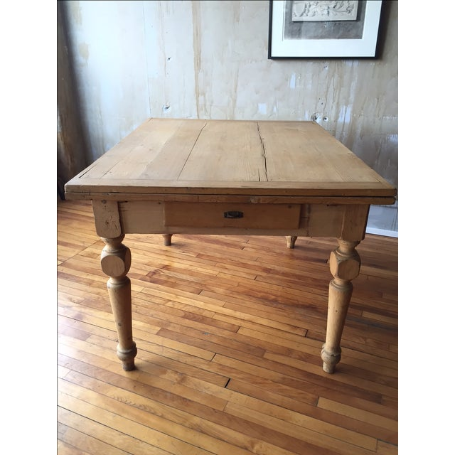 Rustic Italian Antique Dining Table - Image 3 of 9