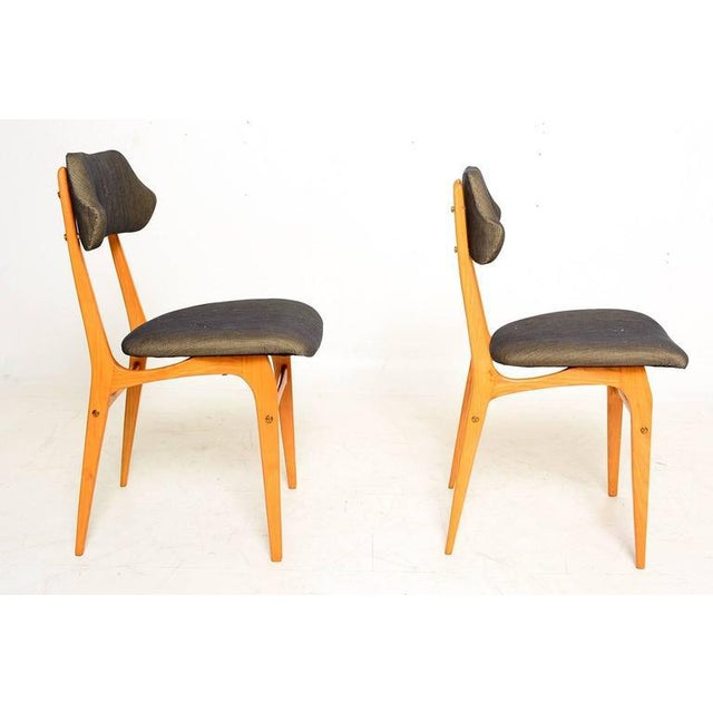 Italian Pair of Italian Side Chairs After Carlo Mollino For Sale - Image 3 of 10