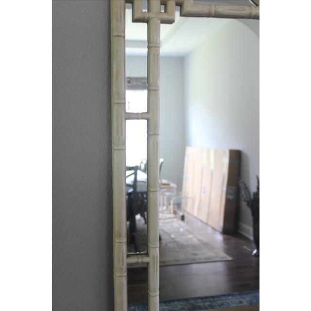 Vintage Greek Key Faux Bamboo Mirror - Image 7 of 11