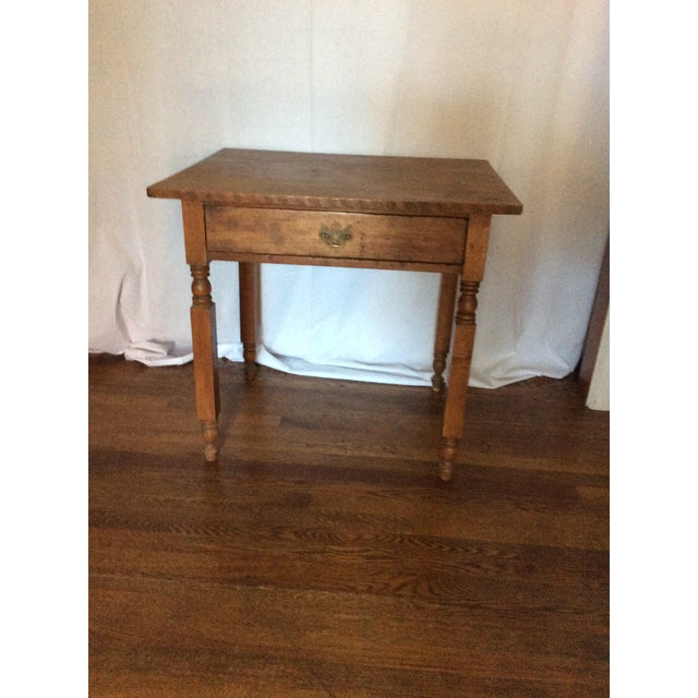 Sienna Primitive American Pine Table With Drawer For Sale - Image 8 of 13