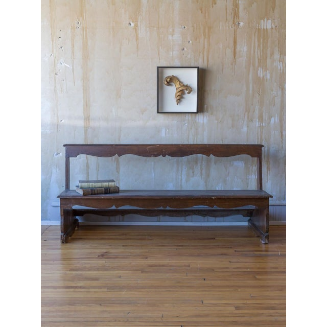 Early 19th Century Italian Antique Church Pew For Sale - Image 5 of 12