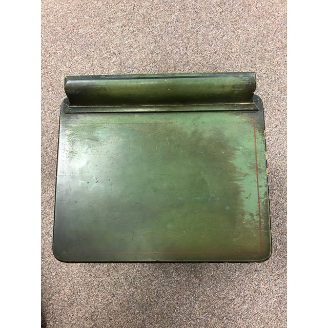Green 1920s Americana Green Wooden Telephone Table For Sale - Image 8 of 11