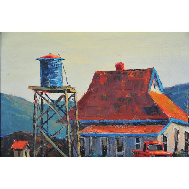 Red Roof Farm House -Oil Painting by Ben Abril - Image 4 of 11