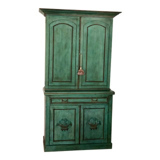 Vintage French Provincial Wooden Hutch