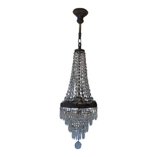 Tall Narrow Art Deco Chandelier For Sale