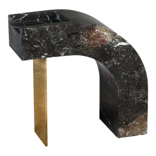 Found II Black Marble Side Table No.6 by a Space For Sale
