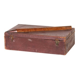Antique Leather Crayon Box from England For Sale