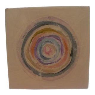 Colorful Concentric Circles Abstract Painting For Sale