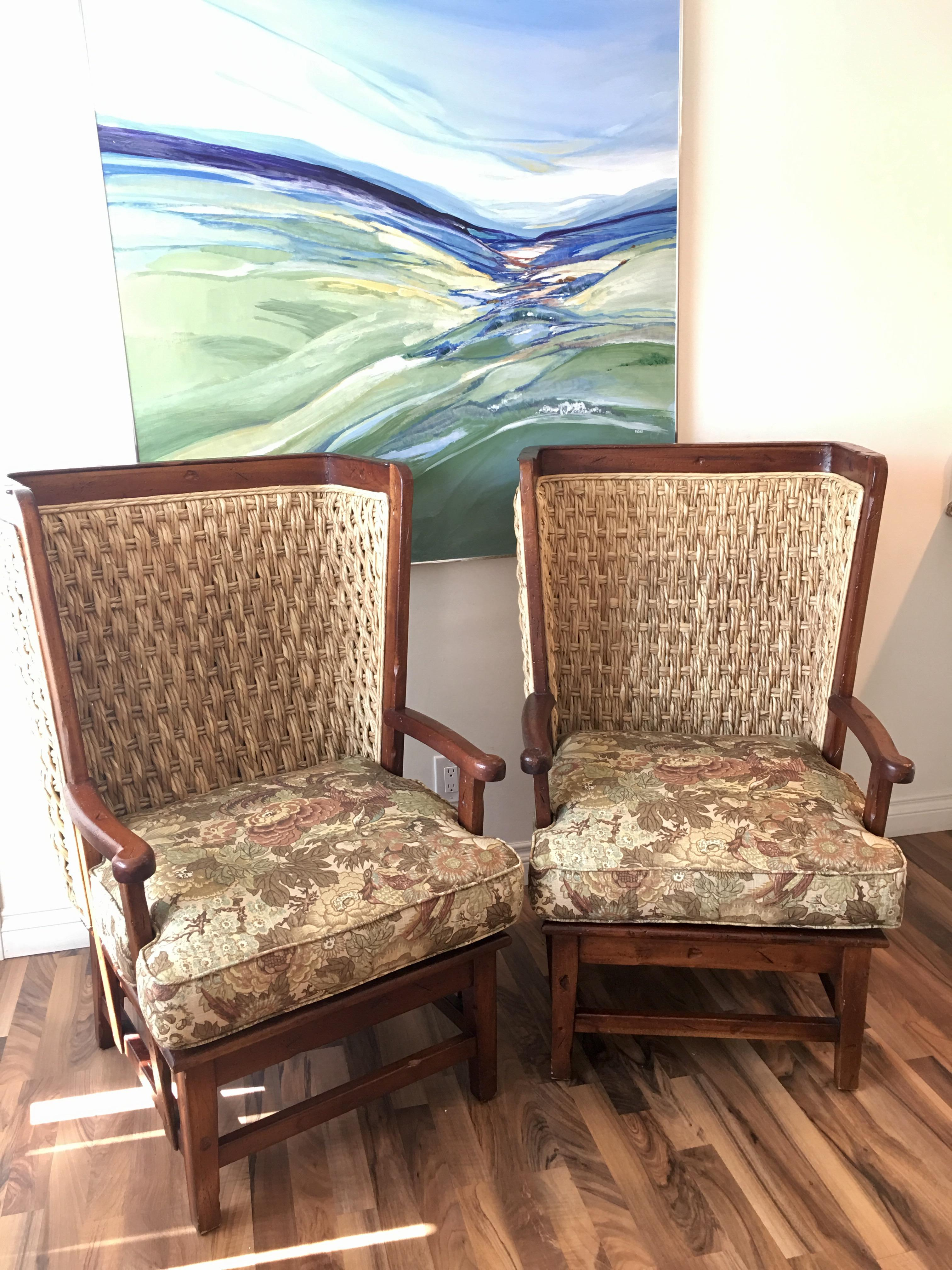 Ralph Lauren Home Orkney Wing Chairs U0026 Ottoman Set   3 Pcs.   Image 2