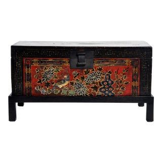 Chinese Wedding Chest on Stand For Sale