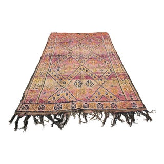 Moroccan Shag Rug- 5′ × 9′ For Sale