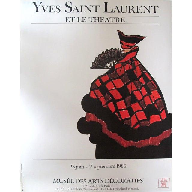 Vintage Yves Saint Laurent Fashion Poster For Sale