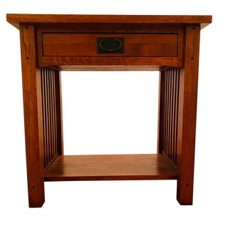 Mission Solid Wood Nightstand For Sale