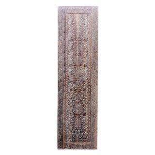Hand-Carved Teak Chameli Panel