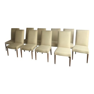 DI Lorenzo High Back Dining Chairs - Set of 10 For Sale