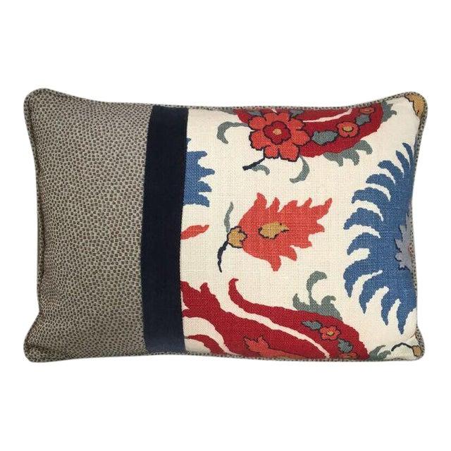 Kim Salmela Floral Patchwork Pillow For Sale