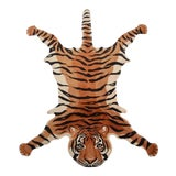 Image of Vintage Wool Tiger Rug - Made in India For Sale