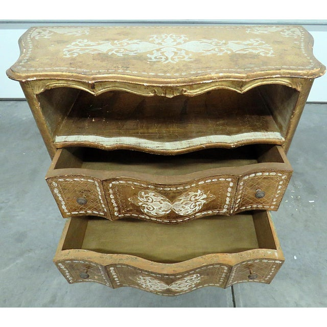 Vintage Florentine Distressed Painted Commode For Sale - Image 4 of 5