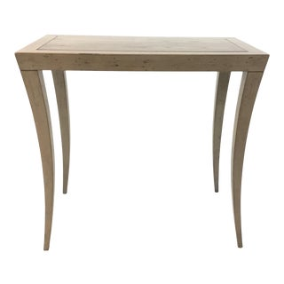 Transitional Hickory Chair Taupe Milo Console Table For Sale