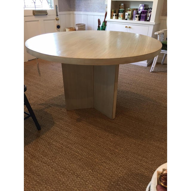 Strieed Sea Foam Green Dining Table With Gold Edge For Sale - Image 4 of 10