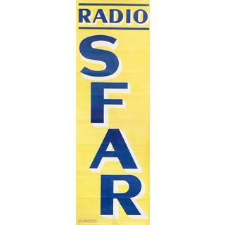 1940s Original French Typography Poster, Radio Sfar For Sale