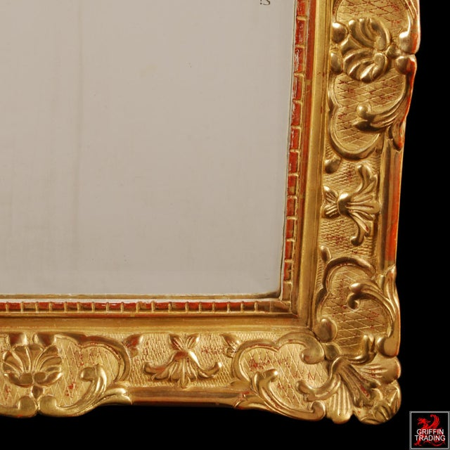 Superb French Regency Period Giltwood Wall Mirror For Sale - Image 9 of 12