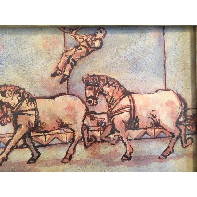 """Paint Circus Series """"Bare Back Trick Riding"""" Painting For Sale - Image 7 of 11"""