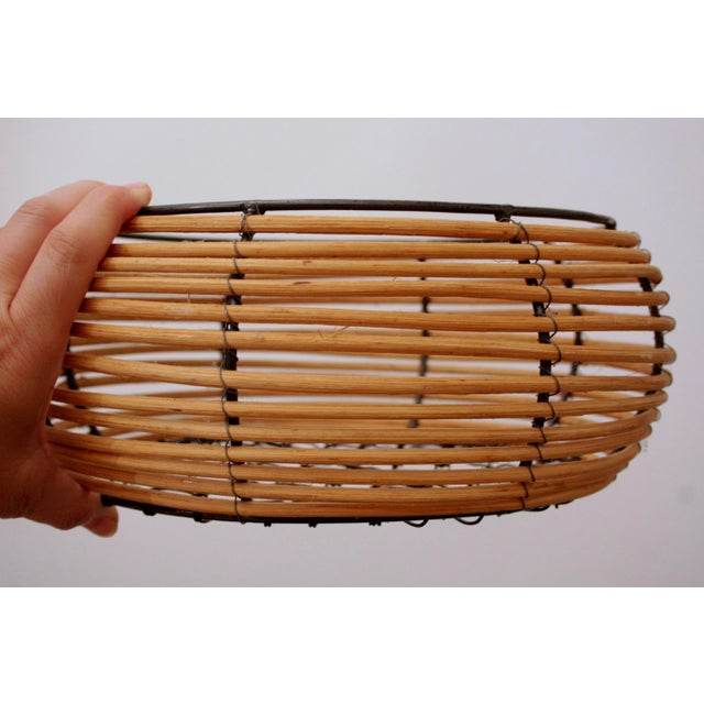 Gabriella Crespi Organic Modern Woven Basket in the Style of Gabriella Crespi For Sale - Image 4 of 7