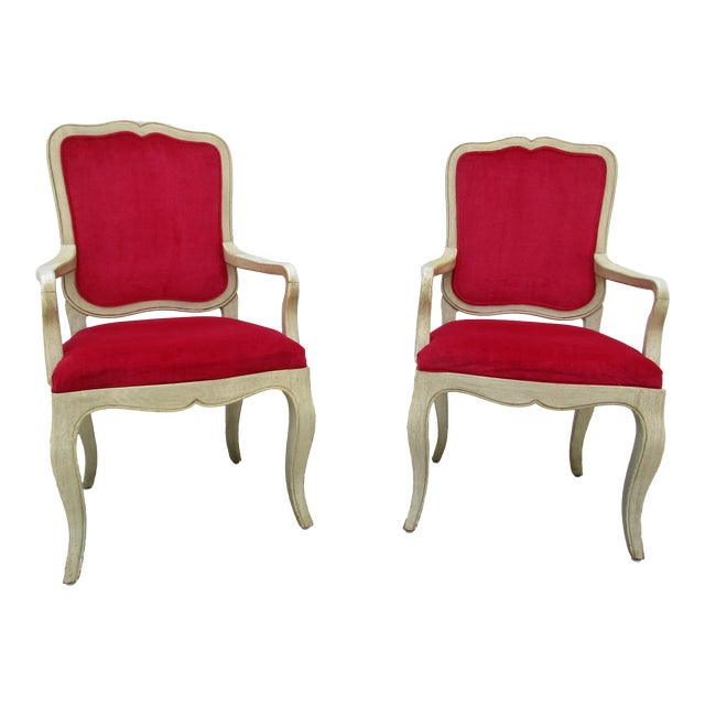 Red 20th Century French Provincial Baker Side or Dining Chair For Sale - Image 8 of 12