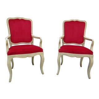 20th Century French Provincial Baker Side or Dining Chairs - a Pair For Sale